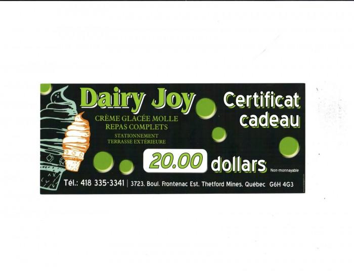 Dairy Joy 20$