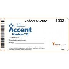 Chèque cadeau Accent Meubles TM-100